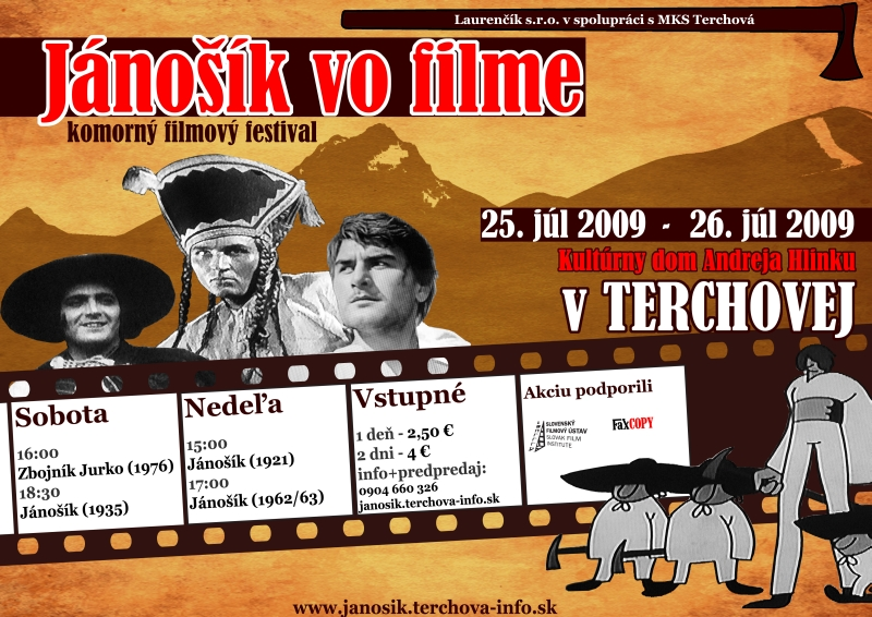 Filmový festival Jánošík vo filme - plagát
